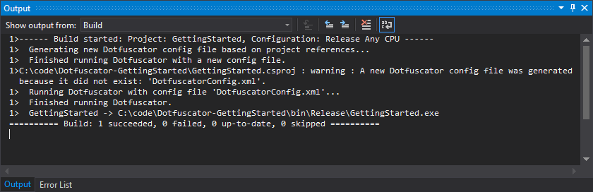 MSBuild — Dotfuscator Professional User Guide 4 43