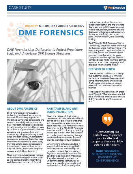 DME Forensics Case Study